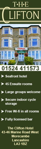 CLIFTON HOTEL ACCOMMODATION MORECAMBE WAY OF THE ROSES