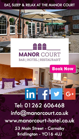 Manor Court Bridlington accommodation restaurant food cycle friendly way of the roses