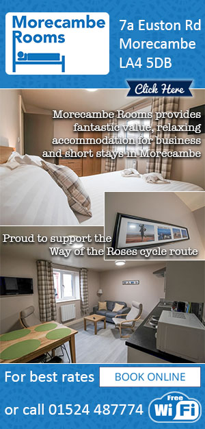 Morecambe Rooms, apartment, rooms, stay, cycle friendly, way of the roses