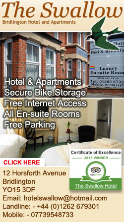 THE SWALLOW HOTEL BRIDLINGTON ACCOMMODATION BED AND BREAKFAST