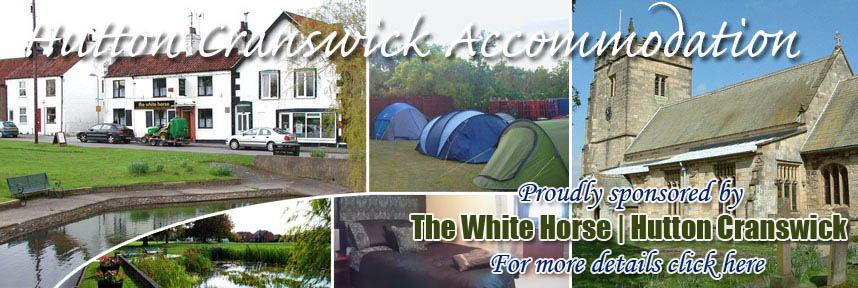 THE WHITE HORSE ACCOMMODATION HUTTON CRANSWICK WAY OF THE ROSES