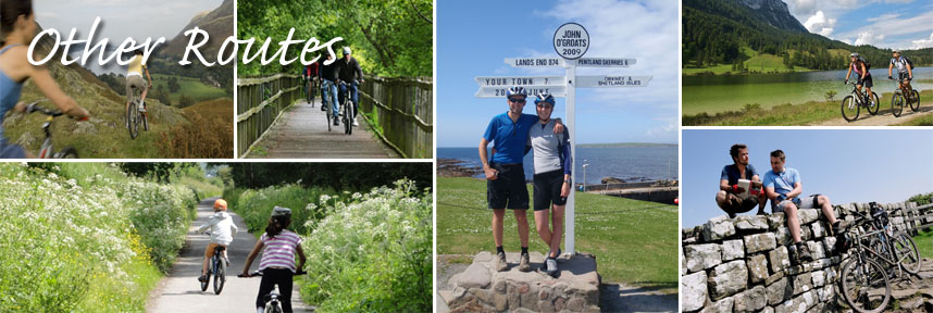 Find a great selection of cycle routes here in the UK, ranging from coast to coast, disused railway lines, forest trail and island routes to name just a few.