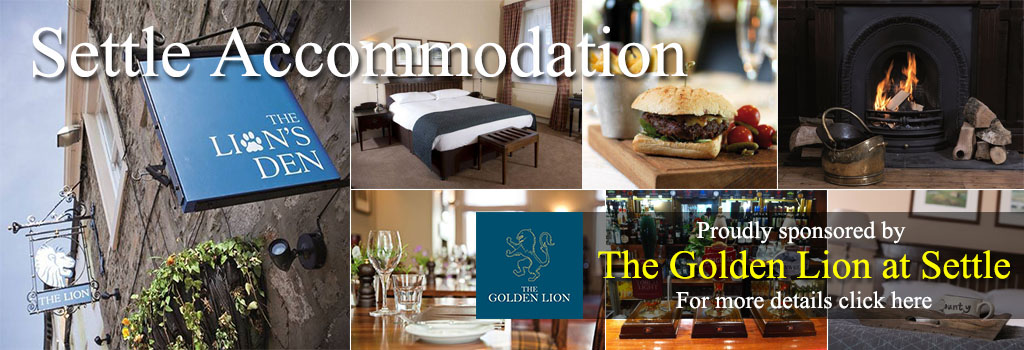 the Golden lion settle accommodation food and drink yorkshire dales way of the roses